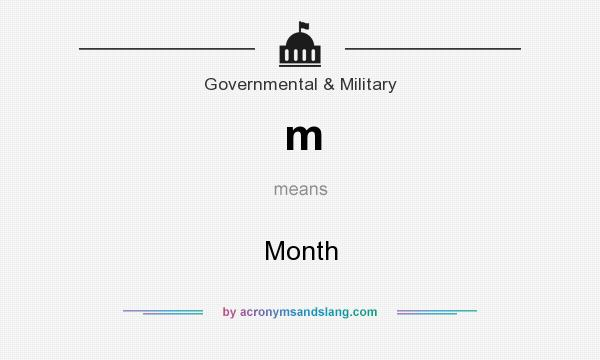 What does m mean? It stands for Month