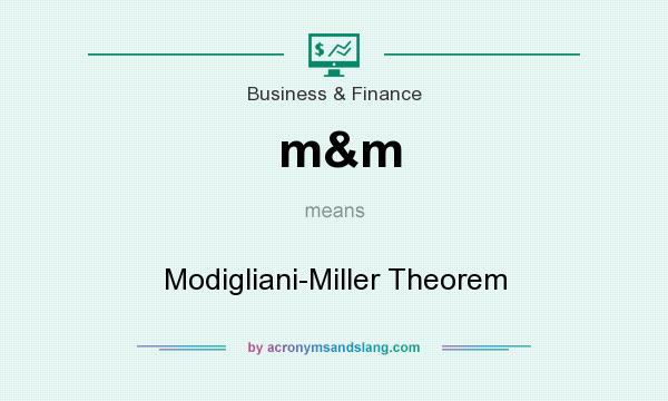 What does m&m mean? It stands for Modigliani-Miller Theorem