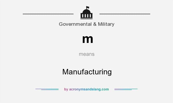 What does m mean? It stands for Manufacturing