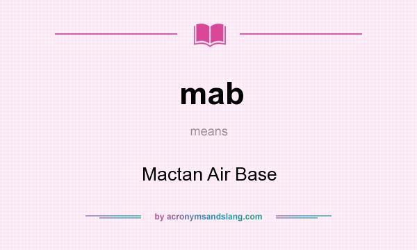 What does mab mean? It stands for Mactan Air Base