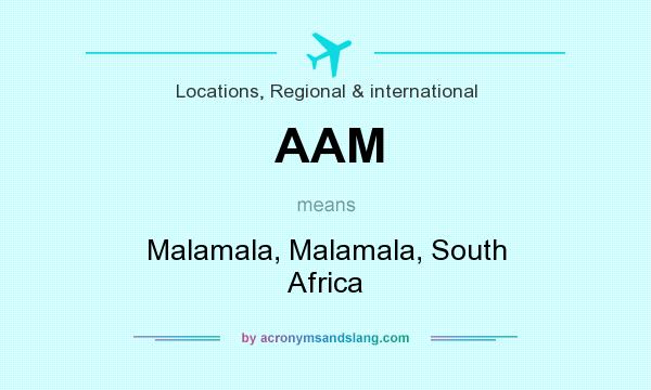 What does AAM mean? It stands for Malamala, Malamala, South Africa