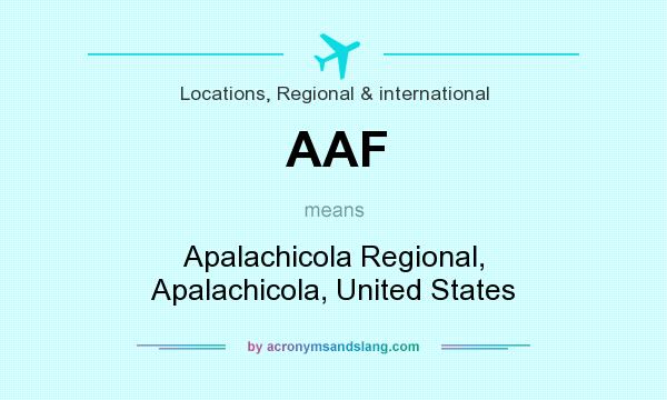 What does AAF mean? It stands for Apalachicola Regional, Apalachicola, United States