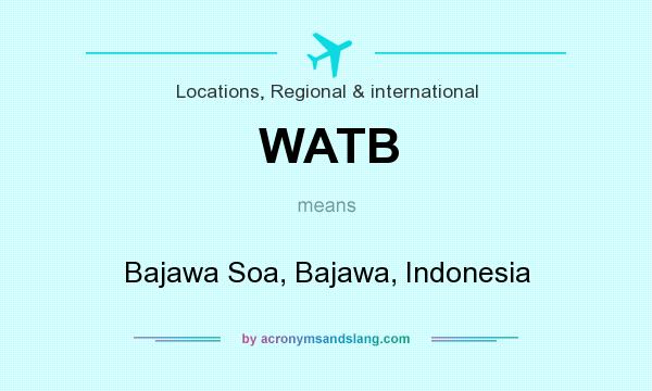 What does WATB mean? It stands for Bajawa Soa, Bajawa, Indonesia