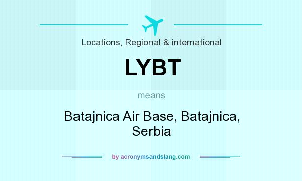 What does LYBT mean? It stands for Batajnica Air Base, Batajnica, Serbia