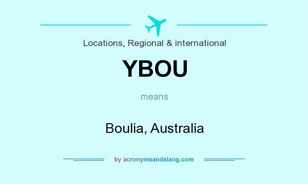 What does YBOU mean? It stands for Boulia, Australia