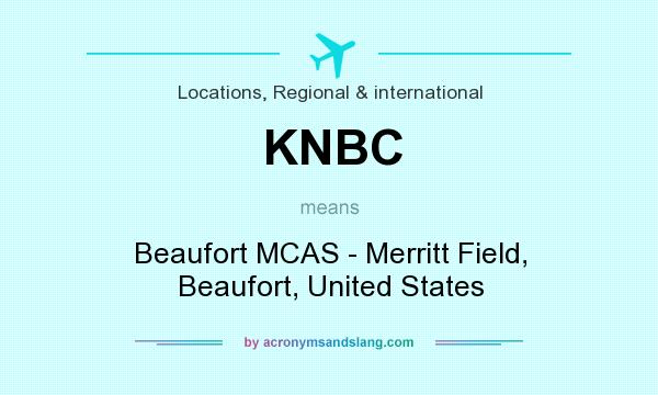 What does KNBC mean? It stands for Beaufort MCAS - Merritt Field, Beaufort, United States
