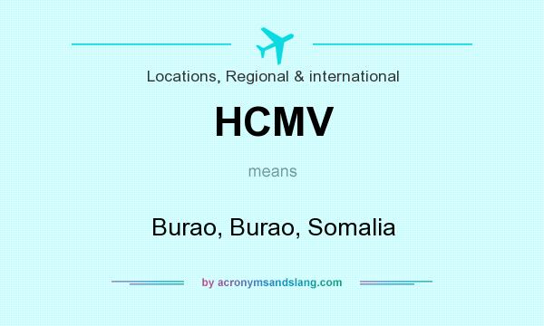 What does HCMV mean? It stands for Burao, Burao, Somalia