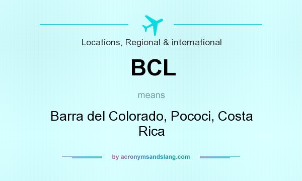 What does BCL mean? It stands for Barra del Colorado, Pococi, Costa Rica