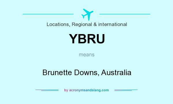 What does YBRU mean? It stands for Brunette Downs, Australia