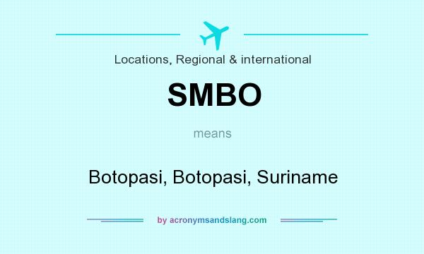 What does SMBO mean? It stands for Botopasi, Botopasi, Suriname
