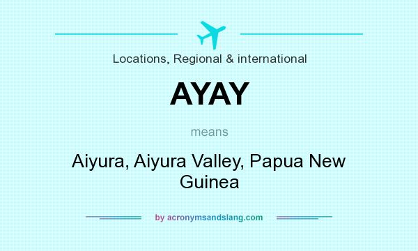 What does AYAY mean? It stands for Aiyura, Aiyura Valley, Papua New Guinea