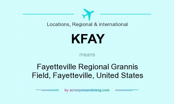 What does KFAY mean? It stands for Fayetteville Regional Grannis Field, Fayetteville, United States