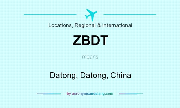 What does ZBDT mean? It stands for Datong, Datong, China
