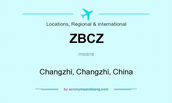 What does ZBCZ mean? It stands for Changzhi, Changzhi, China
