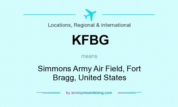 What does KFBG mean? It stands for Simmons Army Air Field, Fort Bragg, United States