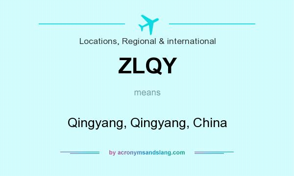 What does ZLQY mean? It stands for Qingyang, Qingyang, China