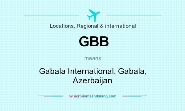 What does GBB mean? It stands for Gabala International, Gabala, Azerbaijan