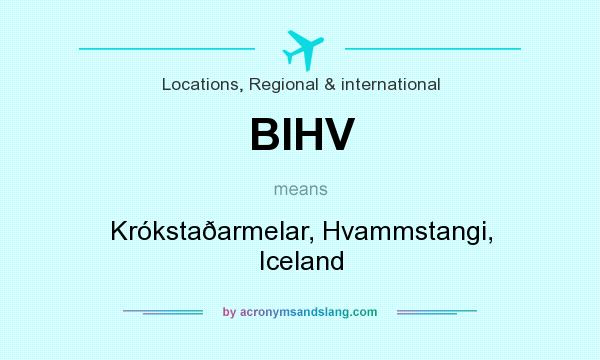 What does BIHV mean? It stands for Krókstaðarmelar, Hvammstangi, Iceland