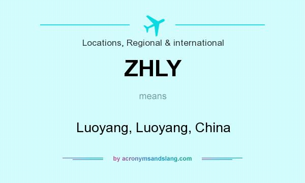 What does ZHLY mean? It stands for Luoyang, Luoyang, China
