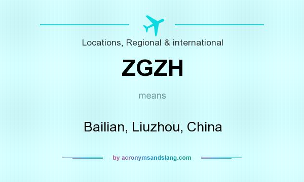 What does ZGZH mean? It stands for Bailian, Liuzhou, China