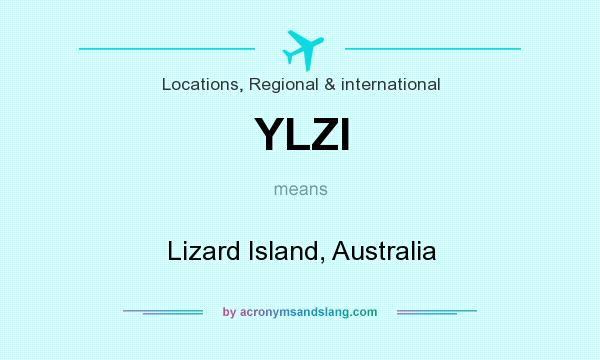 What does YLZI mean? It stands for Lizard Island, Australia