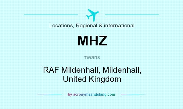 What does MHZ mean? It stands for RAF Mildenhall, Mildenhall, United Kingdom