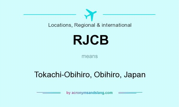 What does RJCB mean? It stands for Tokachi-Obihiro, Obihiro, Japan