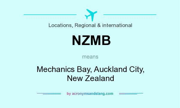 What does NZMB mean? It stands for Mechanics Bay, Auckland City, New Zealand