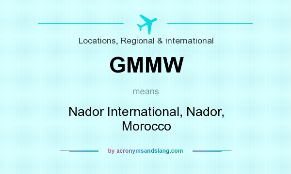 What does GMMW mean? It stands for Nador International, Nador, Morocco