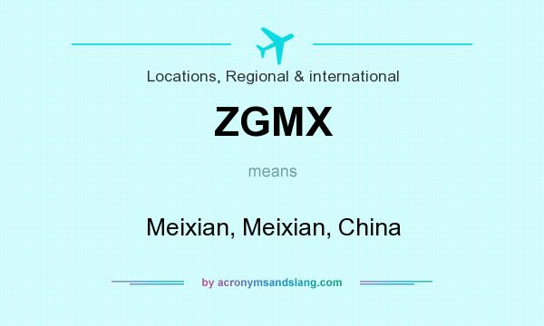 What does ZGMX mean? It stands for Meixian, Meixian, China