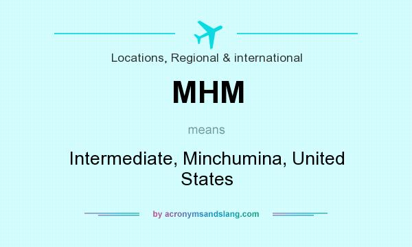 What does MHM mean? It stands for Intermediate, Minchumina, United States