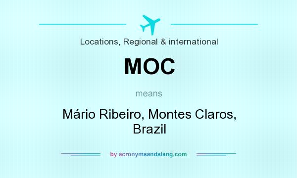 What does MOC mean? It stands for Mário Ribeiro, Montes Claros, Brazil