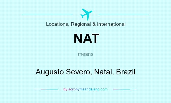 What does NAT mean? It stands for Augusto Severo, Natal, Brazil