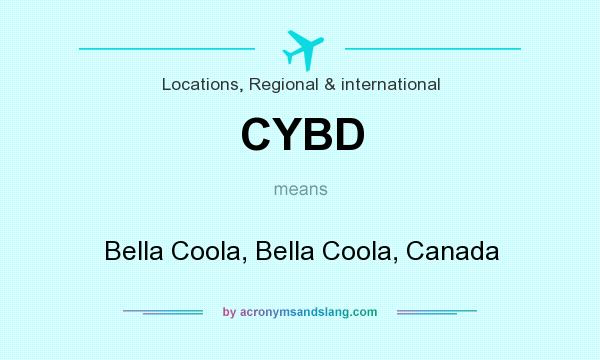 What does CYBD mean? It stands for Bella Coola, Bella Coola, Canada