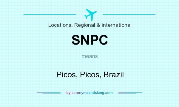 What does SNPC mean? It stands for Picos, Picos, Brazil