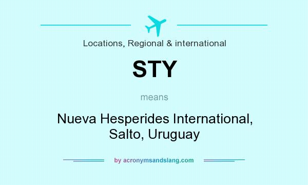 What does STY mean? It stands for Nueva Hesperides International, Salto, Uruguay