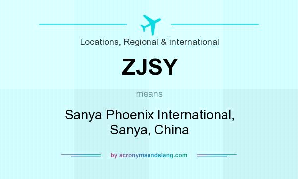 What does ZJSY mean? It stands for Sanya Phoenix International, Sanya, China