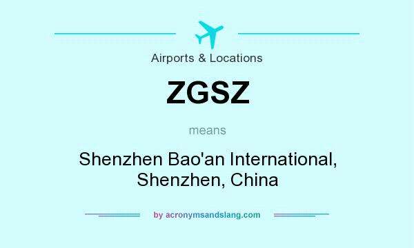 What does ZGSZ mean? It stands for Shenzhen Bao`an International, Shenzhen, China