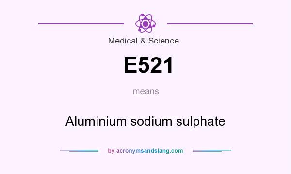 What does E521 mean? It stands for Aluminium sodium sulphate