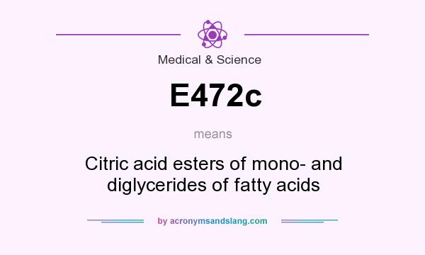 What does E472c mean? It stands for Citric acid esters of mono- and diglycerides of fatty acids