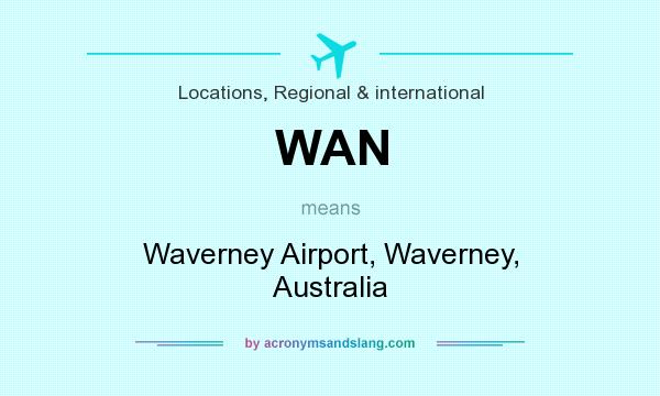 What does WAN mean? It stands for Waverney Airport, Waverney, Australia