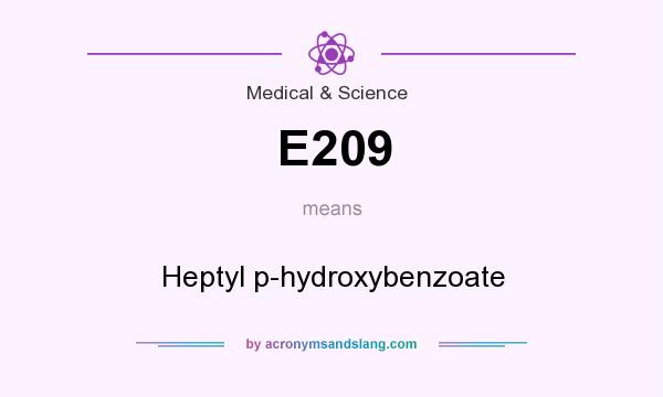 What does E209 mean? It stands for Heptyl p-hydroxybenzoate