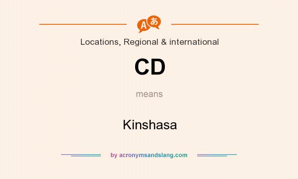 What does CD mean? It stands for Kinshasa