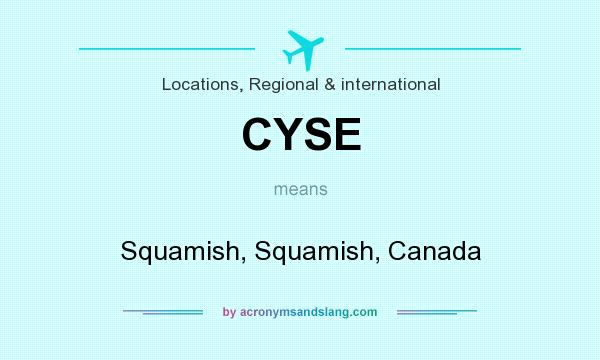 What does CYSE mean? It stands for Squamish, Squamish, Canada