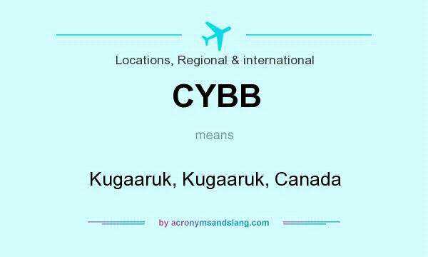 What does CYBB mean? It stands for Kugaaruk, Kugaaruk, Canada