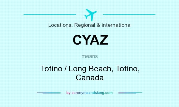 What does CYAZ mean? It stands for Tofino / Long Beach, Tofino, Canada