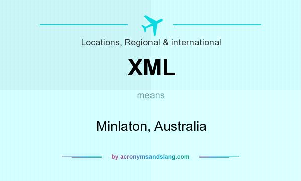 What does XML mean? It stands for Minlaton, Australia