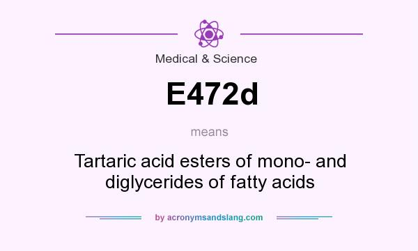 What does E472d mean? It stands for Tartaric acid esters of mono- and diglycerides of fatty acids