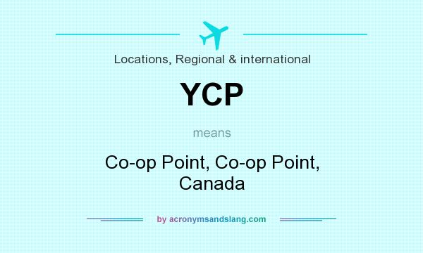 What does YCP mean? It stands for Co-op Point, Co-op Point, Canada