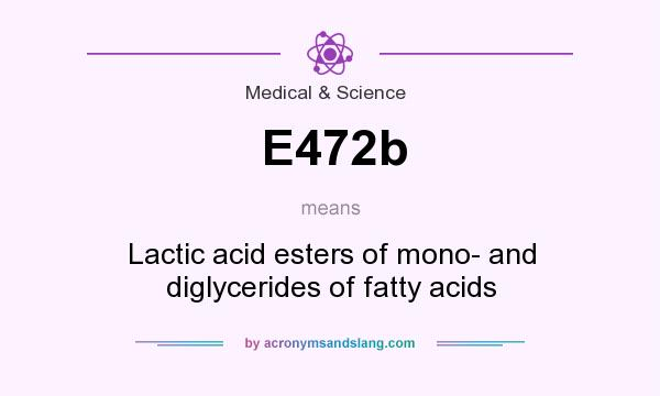 What does E472b mean? It stands for Lactic acid esters of mono- and diglycerides of fatty acids